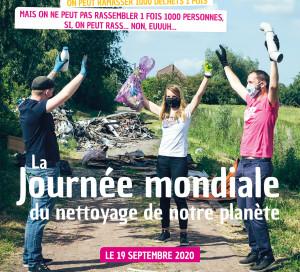 Le 19 septembre, c'est la journée mondiale du nettoyage ou World Cleanup Day.