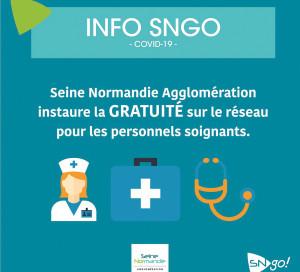 SNA gratuité du réseau SNGO personnels soignants covid confinement