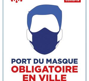 Affiche port du masque obligatoire en ville