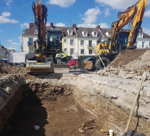 Coeur de Ville Fouilles Archéologiques place de Gaulle Fermeture Rues Déviation