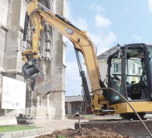 Infotravaux Fouilles Archéologiques Collégiale Notre Dame Accès Rue du Chapitre